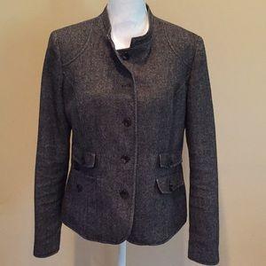 Eddie Bauer Herringbone Jacket Blazer Cropped